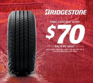 Bridgestone $70 Tire Rebate