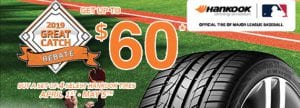 Get up to $60 on Hankook Tires